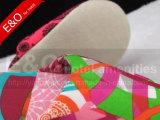Sapata bonita da senhora deslizador da impressão do quarto da qualidade