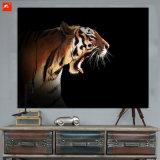 Decoración de la pared de las impresiones de la lona del tigre