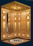Деревянный лифт дома пассажира вытравливания кабины и зеркала