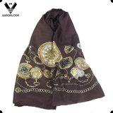 Оптовый высокопоставленный чисто Silk напечатанный шарф вахты цепи типа