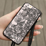 Caja personal del teléfono de la contraportada DIY del teléfono del cordón de zapato de Customed de los nuevos mejores regalos calientes para el iPhone