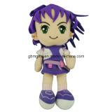 최신 판매 연약한 귀여운 만화 심상 큰 자수는 성 소녀 견면 벨벳 인형 장난감을 주목한다