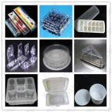 Embalagem plástica de alta velocidade automática da pele da bolha que dá forma à máquina para a embalagem externa interna da extremidade