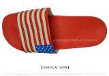 Sandalia roja de EVA del deslizador de los hombres de la fábrica ningún deslizador al aire libre de la correa de la insignia del resbalón