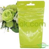 Пластичный мешок застежка-молнии плоского дна с ясными окном и отверстием евро