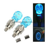 LED Skull Head Air Valve Light, luz de pneu de roda de carro