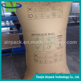 Braunes Packpapier und pp. gesponnener Stauholz-Luftsack für Transport