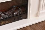 TVの立場(321S)が付いている白い彫刻のヨーロッパの暖房の電気暖炉