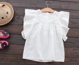 Camice di cotone dei capretti di colore del pannello esterno 2 di estate delle bambine