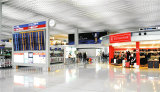 pantalla creativa de pH2.9mm HD LED solicitada aeropuerto