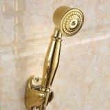 Faucet de banheira chapeado ouro de Flg com jogo do chuveiro da mão