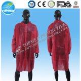 Nonwoven実験室のコート-ポリプロピレンの使い捨て可能な実験室のコート