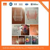 Ячеистая сеть стеллажа для выставки товаров/корзины провода металла супермаркета складная штабелируя корзины/клетку промотирования
