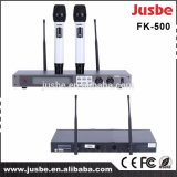 Jusbe Fk500 UHFのカラオケの歌う段階のための専門のカージオイド手持ち型の無線マイクロフォンシステム