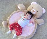 カスタムプラシ天の動物の形のPlaymatのプラシ天の赤ん坊の体操