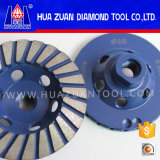 Колесо диаманта абразивного диска чашки Huazuan 100 mm Turbo