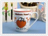 Traitement lustré de la tasse de café de porcelaine de logo fait sur commande de 11 onces C pour la sublimation