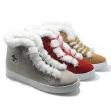 Новая конструкция Boots проложенные хлопком ботинки резины женщин Fation плюша ботинок