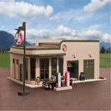 Edifício do posto de gasolina do frame de aço de economia de custo para a venda