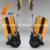 Le meilleur scooter se pliant jamais de mobilité de vente de couleur chaude de jaune