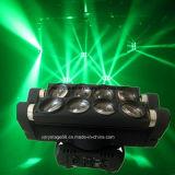 lumière principale mobile d'étape de faisceau d'araignée du CREE RGBW de 8*10W DEL