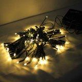 Kerstmis van de Decoratie van het Huwelijk van de Tuin van het Koord van de LEIDENE ZonneFee van het Koord Lichte 10m Zonne Lichte OpenluchtVakantie Lichtrode Blauwgroene White/RGB