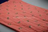 Tessuto del voile di stampa della piega del cotone