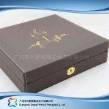 Rectángulo de empaquetado de cuero de lujo para el cosmético de la joyería del alimento del regalo (xc-hbg-018)