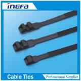 Serre-câble en nylon avec de l'acier verrouillant des dents