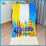 贅沢な品質の綿のベロア反応印刷されたOEMのカスタムビーチタオル