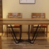 A tabela de jantar longa moderna a mais atrasada da madeira contínua para a mobília Home (CH633)