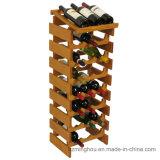 Cremagliera di legno del vino del pavimento della bottiglia del banco di mostra della bottiglia 24