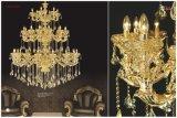Indicatore luminoso a cristallo dorato di lusso del lampadario a bracci di Champagn
