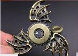 Gioco del filatore del giocattolo dell'occhio di aquila nuovo di tri punta della barretta di Handspinner dell'ala del drago del filatore della mano del filatore del metallo di sforzo d'ottone della barretta