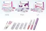 Essai rapide de main gauche de diagnose d'opération de l'essai un d'ovulation