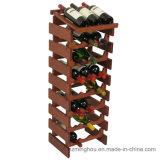 Cremalheira de madeira do vinho do indicador do frasco do armazenamento do assoalho