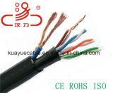 Câble d'acoustique de connecteur de câble de transmission de câble de caractéristiques de câble de câble d'alimentation/ordinateur d'Utpcat5e 24AWG+2c