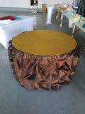 Tampa de mesa de PVC Shinning de cor marrom para o hotel usado (CGTC1715)