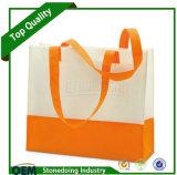 Saco não tecido reusável biodegradável do pedido feito sob encomenda do logotipo
