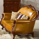 Sofà e Tabella di cuoio classici per la mobilia del salone