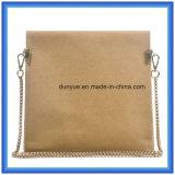 Bolso ocasional especial modificado para requisitos particulares de moda del mensajero del papel de Kraft, bolso de hombro impermeable del papel de Kraft de la venta que hace compras caliente solo con la correa de oro del metal del color