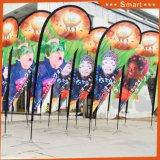 Indicador 2017 de playa decorativo de encargo de la publicidad al aire libre de China para la bici