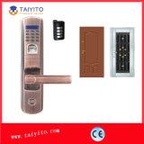 家のハンドルロックのためのTytの耐火性および防水WiFiの指紋のドアロック