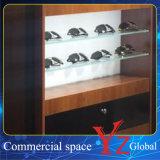 Cabina de madera de la exposición de los vidrios del escaparate de los vidrios de la cabina de visualización de los vidrios (YZ160403)