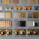 Mattonelle di mosaico di ceramica dell'oro del ciottolo