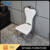 Aço inoxidável moderno que janta a cadeira com coxim da tela