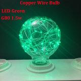 Bulbo colorido E27 G125, G95, bulbo del alambre de cobre LED de la estrella G80