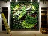 Parete verde artificiale della nuova di disegno del pæsaggio di architettura del foglio di falsificazione parete arancione dell'erba per la decorazione