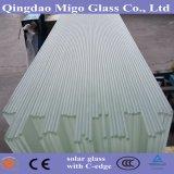 Lastra di vetro solare Tempered del ferro basso rivestito Anti-Riflettente Single-Sided