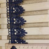 Merletto di nylon di immaginazione della guarnizione del ricamo del poliestere del merletto del commercio all'ingrosso 5cm della fabbrica del ricamo di riserva di larghezza per l'accessorio degli indumenti & tessile & tende domestiche